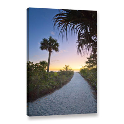 Brushstone Secluded Beach Gallery Wrapped Canvas Wall Art