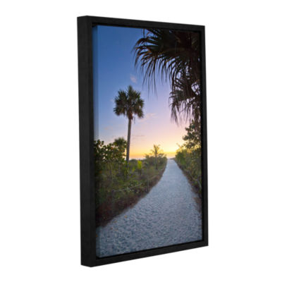 Brushstone Secluded Beach Gallery Wrapped Floater-Framed Canvas Wall Art