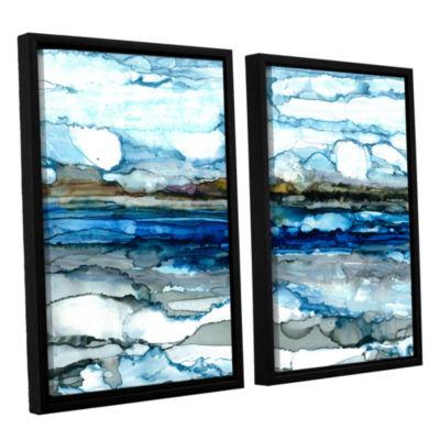 Brushstone Silver Coast 2-pc. Floater Framed Canvas Wall Art