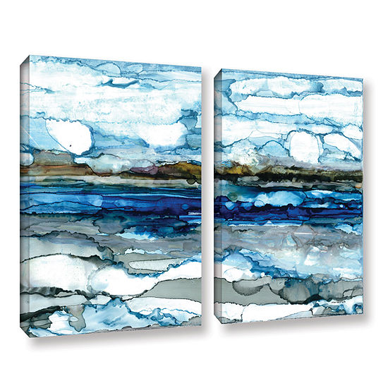 Brushstone Silver Coast 2 Pc Gallery Wrapped Canvas Wall Art