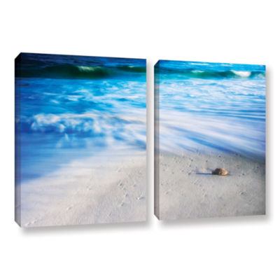 Brushstone Seashells On The Seashore 2-pc. GalleryWrapped Canvas Wall Art