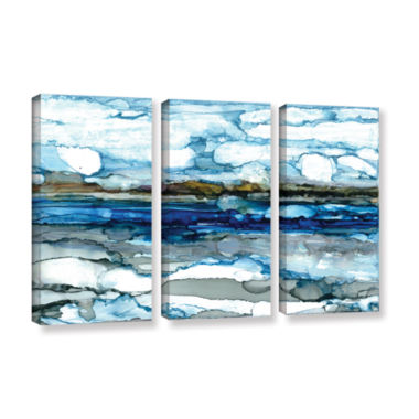 Brushstone Silver Coast 3-pc. Gallery Wrapped Canvas Wall Art
