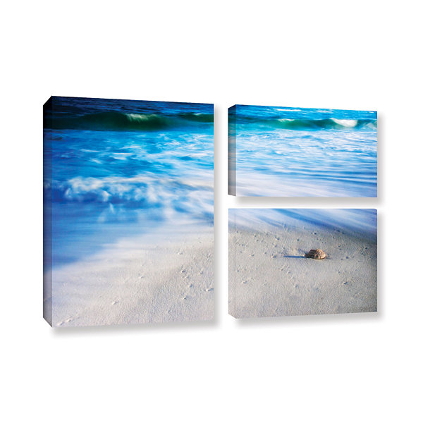 Brushstone Seashells On The Seashore 3-pc. Flag Gallery Wrapped Canvas Wall Art