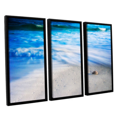 Brushstone Seashells On The Seashore 3-pc. FloaterFramed Canvas Wall Art