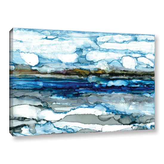 Brushstone Silver Coast Gallery Wrapped Canvas Wall Art