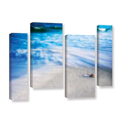 Brushstone Seashells On The Seashore 4-pc. GalleryWrapped Staggered Canvas Wall Art