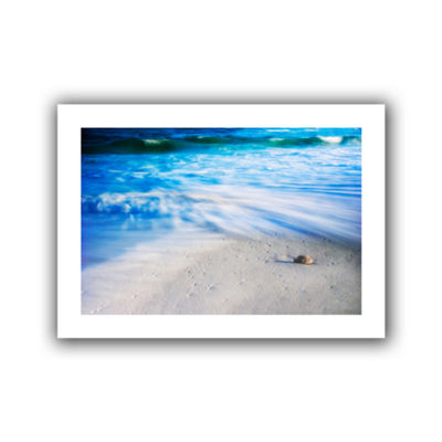 Brushstone Seashells On The Seashore Canvas Wall Art