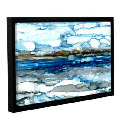 Brushstone Silver Coast Gallery Wrapped Floater-Framed Canvas Wall Art