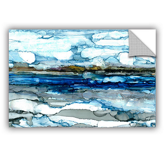 Brushstone Silver Coast Removable Wall Decal