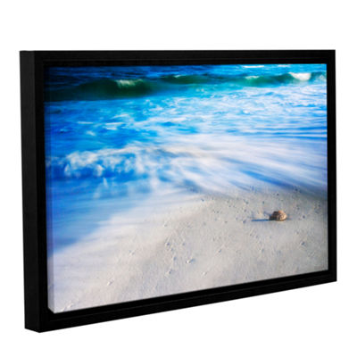 Brushstone Seashells On The Seashore Gallery Wrapped Floater-Framed Canvas Wall Art