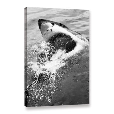 Brushstone Shark Attack Gallery Wrapped Canvas Wall Art