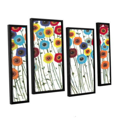 Brushstone Simply Gorgeous 4-pc. Floater Framed Staggered Canvas Wall Art
