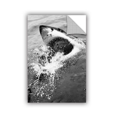Brushstone Shark Attack Removable Wall Decal