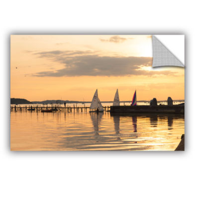 Brushstone Sailboats Docked Removable Wall Decal