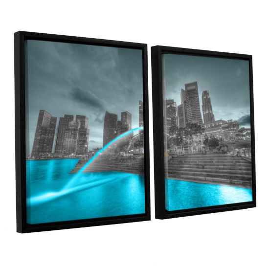 Brushstone Singapore 2-pc. Floater Framed Canvas Wall Art