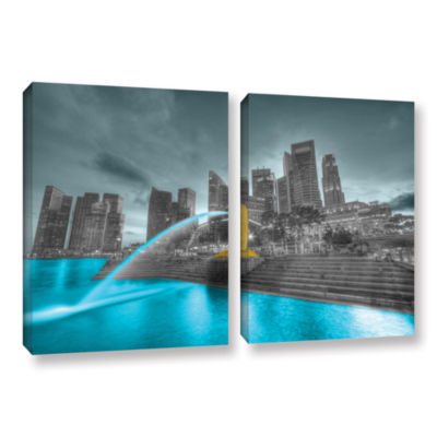 Brushstone Singapore 2-pc. Gallery Wrapped CanvasWall Art