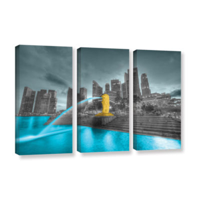 Brushstone Singapore 3-pc. Gallery Wrapped CanvasWall Art