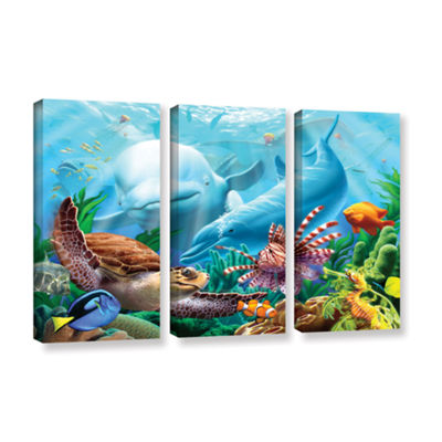 Brushstone Seavilian 3-pc. Gallery Wrapped CanvasWall Art