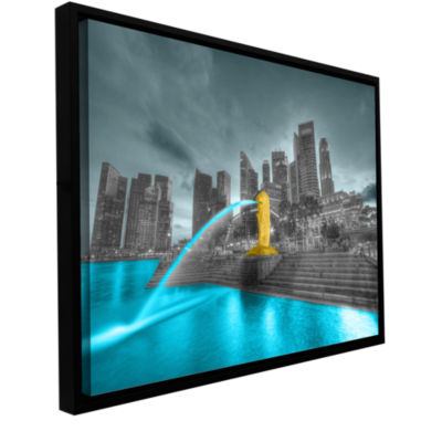 Brushstone Singapore Gallery Wrapped Floater-Framed Canvas Wall Art