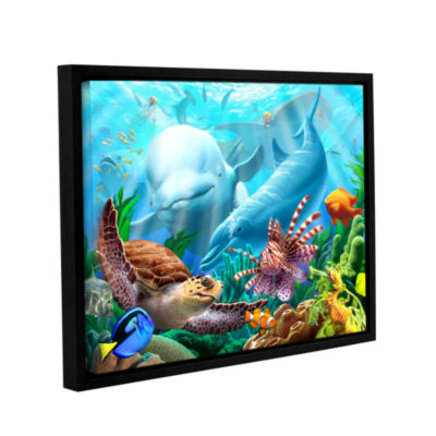 Brushstone Seavilian Gallery Wrapped Floater-Framed Canvas Wall Art