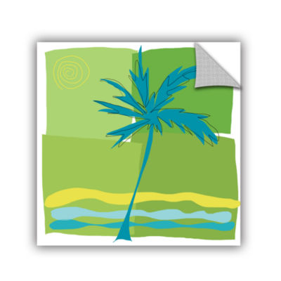 Brushstone Single Palm Removable Wall Decal