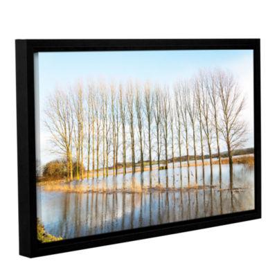 Brushstone Sinking Bridge Gallery Wrapped Floater-Framed Canvas Wall Art