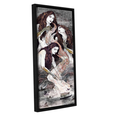 Brushstone Sirens Lure Gallery Wrapped Floater-Framed Canvas Wall Art