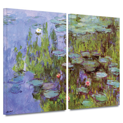 Brushstone Sea Roses 2-pc. Gallery Wrapped CanvasWall Art