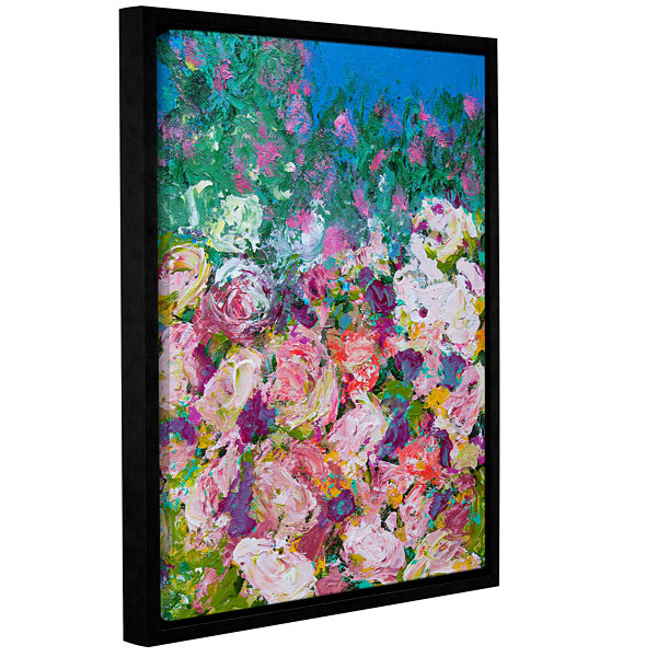 Brushstone Sissinghurst Castle Garden Gallery Wrapped Floater-Framed Canvas Wall Art