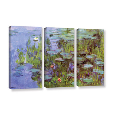 Brushstone Sea Roses 3-pc. Gallery Wrapped CanvasWall Art