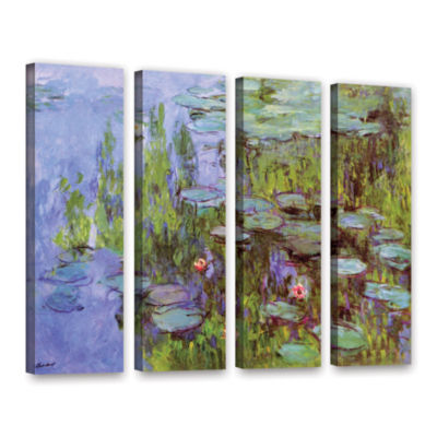 Brushstone Sea Roses 4-pc. Gallery Wrapped CanvasWall Art