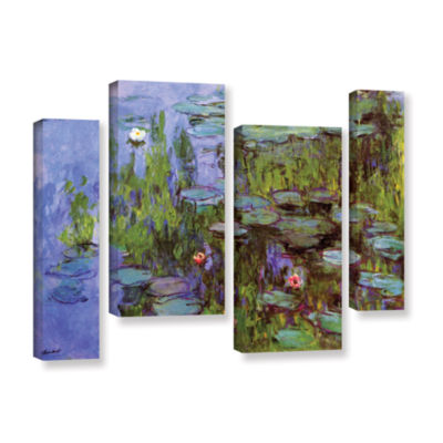Brushstone Sea Roses 4-pc. Gallery Wrapped Staggered Canvas Wall Art