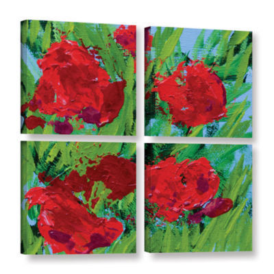 Brushstone Sitta Garden 4-pc. Square Gallery Wrapped Canvas Wall Art