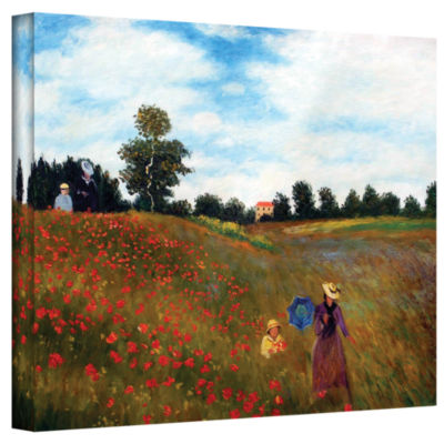 Brushstone Sea Roses Gallery Wrapped Canvas Wall Art