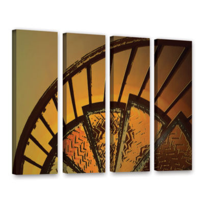 Brushstone Sixth Step 4-pc. Gallery Wrapped CanvasWall Art