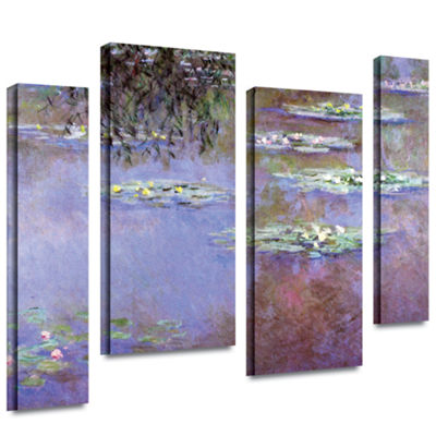 Brushstone Sea Roses II 4-pc. Gallery Wrapped Canvas Wall Art