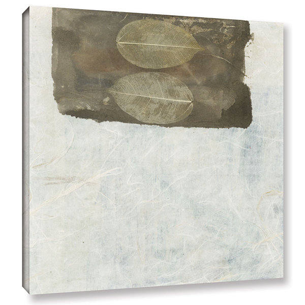 Brushstone Skeleton Leaves Gallery Wrapped CanvasWall Art