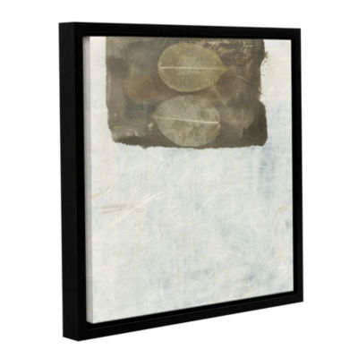 Brushstone Skeleton Leaves Gallery Wrapped Floater-Framed Canvas Wall Art