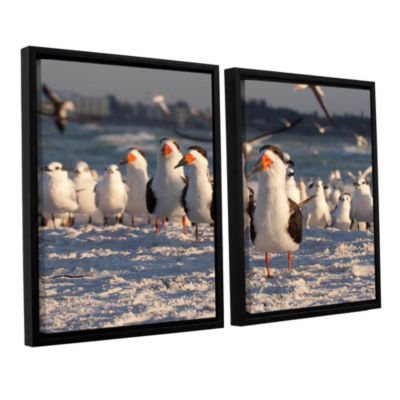 Brushstone Skimmers Siesta Key 2-pc. Floater Framed Canvas Wall Art