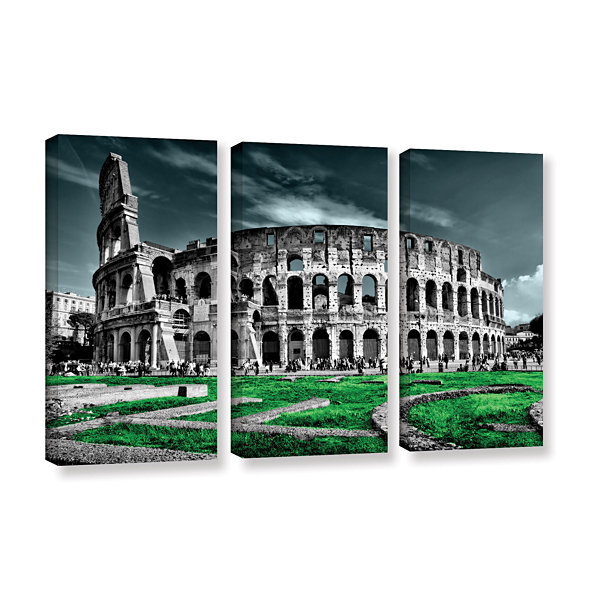 Brushstone Rome 3-pc. Gallery Wrapped Canvas WallArt