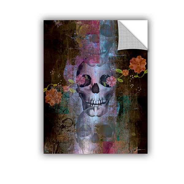 Brushstone Skull Removable Wall Decal