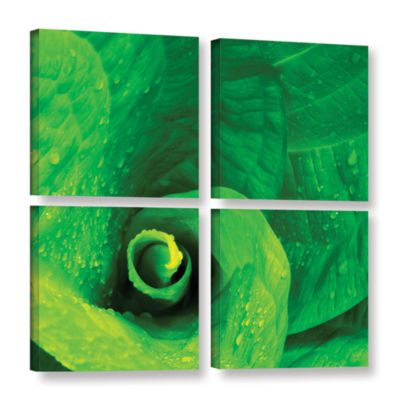 Brushstone Skunk Swirl 4-pc. Square Gallery Wrapped Canvas Wall Art