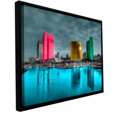 Brushstone San Diego Gallery Wrapped Floater-Framed Canvas Wall Art