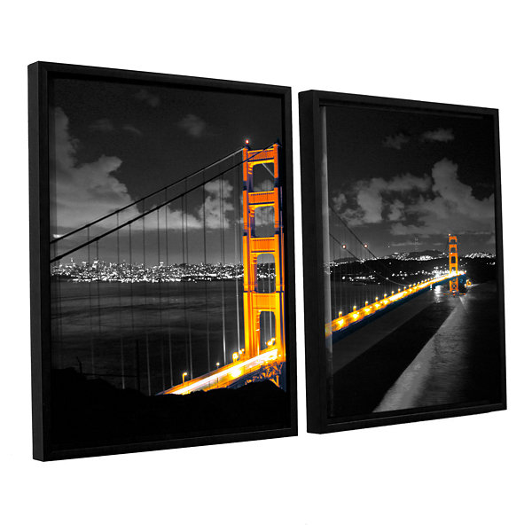 Brushstone San Francisco Bridge I 2-pc. Floater Framed Canvas Wall Art