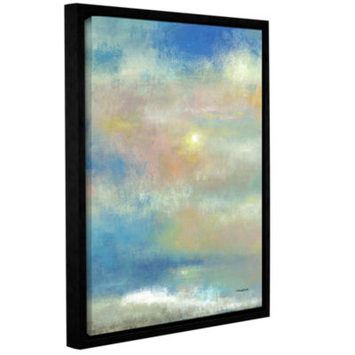 Brushstone Sky 1 Gallery Wrapped Floater-Framed Canvas Wall Art