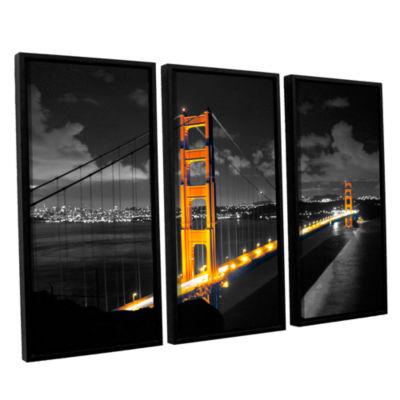 Brushstone San Francisco Bridge I 3-pc. Floater Framed Canvas Wall Art
