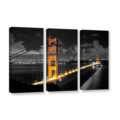 Brushstone San Francisco Bridge I 3-pc. Gallery Wrapped Canvas Wall Art