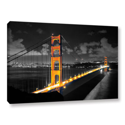Brushstone San Francisco Bridge I Gallery WrappedCanvas Wall Art
