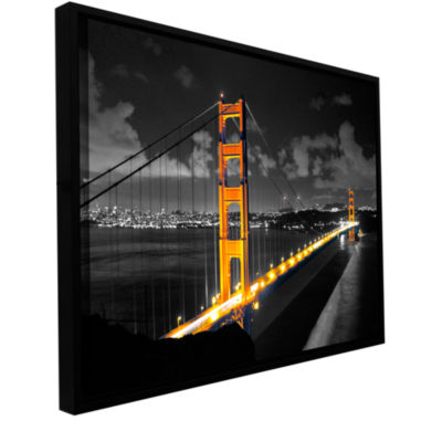 Brushstone San Francisco Bridge I Gallery WrappedFloater-Framed Canvas Wall Art