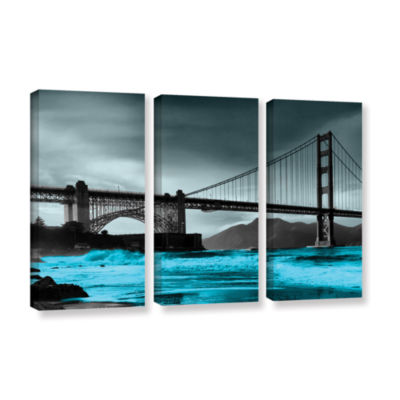 Brushstone San Francisco Bridge II 3-pc. Gallery Wrapped Canvas Wall Art